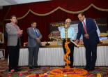 Lighting of the Lamp by CMD MMTC with Addnl Secy A K Bhalla & MMTC Directors